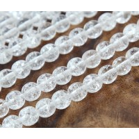 Crackle Crystal Czech Glass Beads, 10mm Round