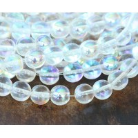 Crystal AB Czech Glass Beads, 8mm Round