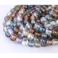 Multicolor Luster Czech Glass Beads, 4mm Round