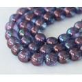 Transparent Amethyst Luster Czech Glass Beads, 8mm Round