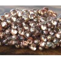 Apollo Gold Czech Glass Beads, 8x6mm Teardrop