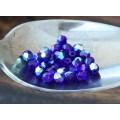 Cobalt AB Czech Glass Beads, 6mm Faceted Round