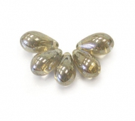 Black Diamond Luster Czech Glass Beads, 9x6mm Teardrop