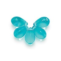 Aquamarine Czech Glass Beads, 9x6mm Teardrop