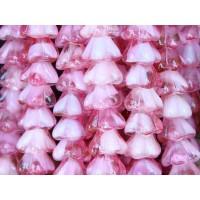 Crystal Pink Czech Glass Beads, 8x6mm Bell Flower