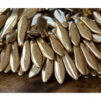 -Bronze Czech Glass Beads, 5x16mm Dagger