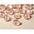 Rosaline Luster Czech Glass Beads, 6mm Faceted Round