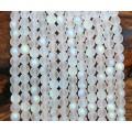 Matte Crystal AB Czech Glass Beads, 6mm Round