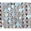 Matte Crystal AB Czech Glass Beads, 10mm Round
