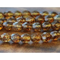Crystal Picasso Czech Glass Beads, 8mm Faceted Round