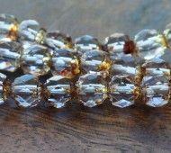 Alexandrite Picasso Czech Glass Beads, 6mm Renaissance