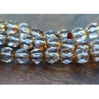 Alexandrite Picasso Czech Glass Beads, 6mm Renaissance