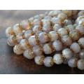 Milky Amethyst Czech Glass Beads, 6mm Renaissance