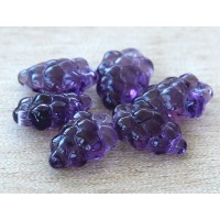 Amethyst Czech Glass Beads, 11x16mm Grape Bunch