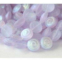Lilac AB Czech Glass Beads, 14mm Cinnamon Bun
