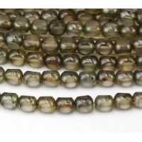 Transparent Luster Czech Glass Beads, 7x8mm Antique Table Cut