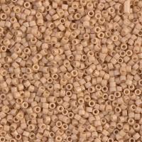 11/0 Miyuki Delica Seed Beads, Matte Light Terracotta, 7.2 Gram Tube