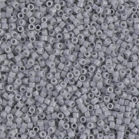 11/0 Miyuki Delica Seed Beads, Opaque Ghost Grey, 7.2 Gram Tube