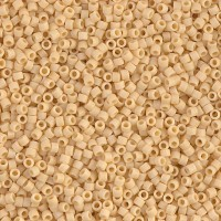 11/0 Miyuki Delica Seed Beads, Matte Pear Yellow, 7.2 Gram Tube