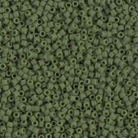 11/0 Miyuki Delica Seed Beads, Matte Avocado Green, 7.2 Gram Tube