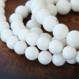 White Mountain Jade Beads, 8mm Round