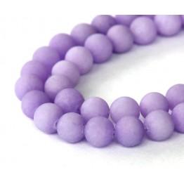 Violet Matte Jade Beads, 8mm Round
