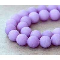 Light Purple Matte Jade Beads, 10mm Round
