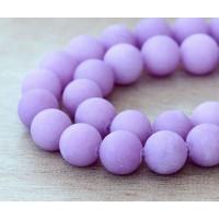 Light Purple Matte Jade Beads, 10mm Round