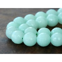 Aqua Candy Jade Beads, 10mm Faceted Round