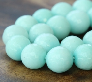 Aqua Candy Jade Beads, 12mm Faceted Round