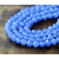 Periwinkle Blue Candy Jade Beads, 4mm Faceted Round