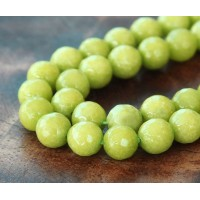 Apple Green Candy Jade Beads, 10mm Faceted Round