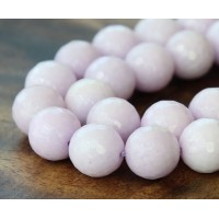 Lilac Candy Jade Beads, 12mm Faceted Round
