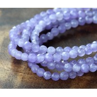 Light Purple Candy Jade Beads, 4mm Faceted Round