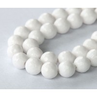 White Candy Jade Beads, 8mm Faceted Round