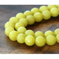 Light Mustard Candy Jade Beads, 6mm Faceted Round