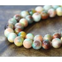 Light Multicolor Jade Beads, 8mm Round