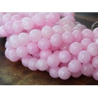 Rose Pink Mountain Jade Beads, 8mm Round