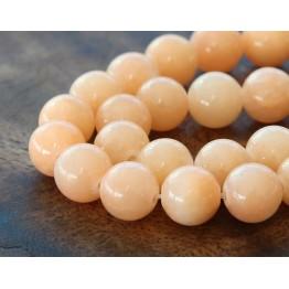 Light Peach Mountain Jade Beads, 10mm Round