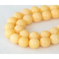 Cream Mountain Jade Beads, 10mm Round