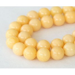 Cream Mountain Jade Beads, 10mm Round