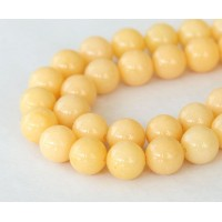 Cream Mountain Jade Beads, 8mm Round