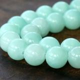 Aqua Mountain Jade Beads, 10mm Round