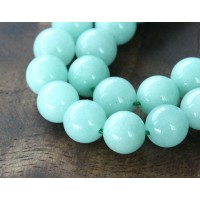 Aqua Mountain Jade Beads, 8mm Round