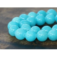 Light Blue Mountain Jade Beads, 10mm Round