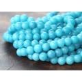 Light Blue Mountain Jade Beads, 6mm Round