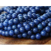 Navy Blue Mountain Jade Beads, 4mm Round