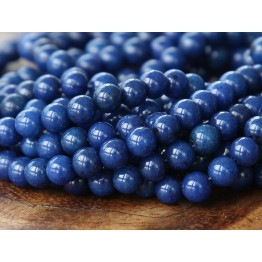 Navy Blue Mountain Jade Beads, 4mm Round