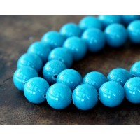 Sky Blue Mountain Jade Beads, 12mm Round
