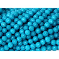 Sky Blue Mountain Jade Beads, 6mm Round